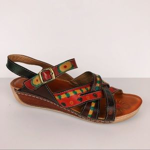 Spring Step D-Union multicolor strappy sandals 40